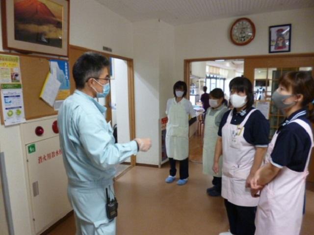 介護付き有料老人ホーム ウェルケア伊豆高原の防災訓練